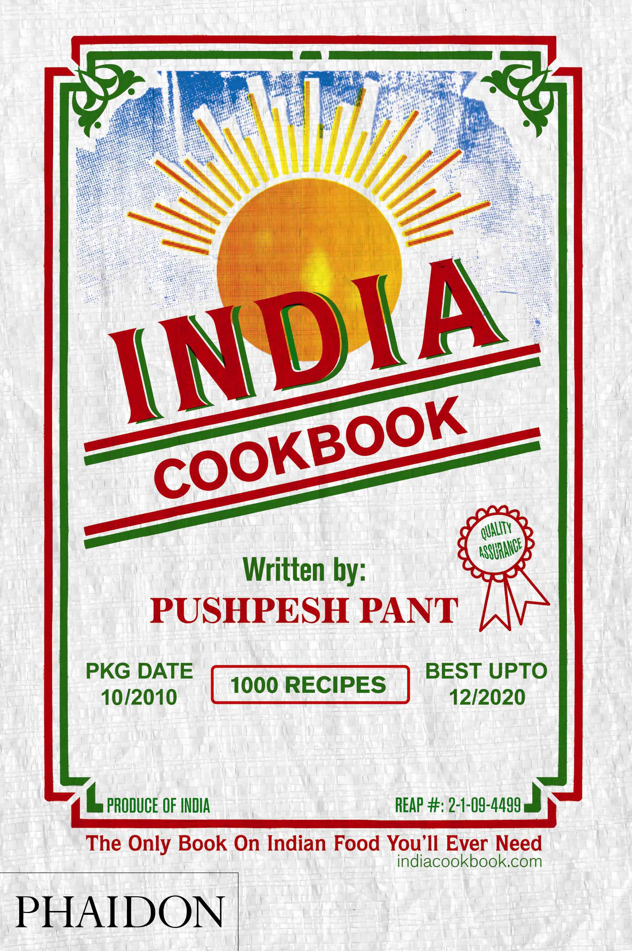 India Cookbook By Pant, Pushpesh